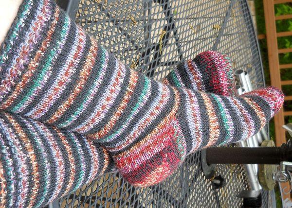 Socks black striped