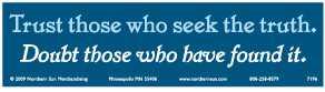 Seek-The-Truth-Bumper-Sticker-(7196)