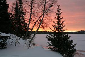 LkSup sunset winter