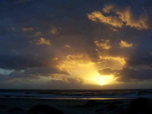 Sunset at Jeffreysbaai.