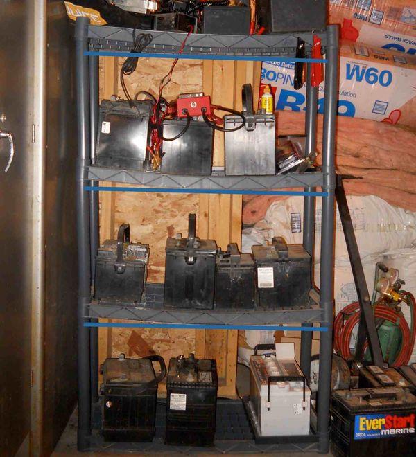Battery shelves