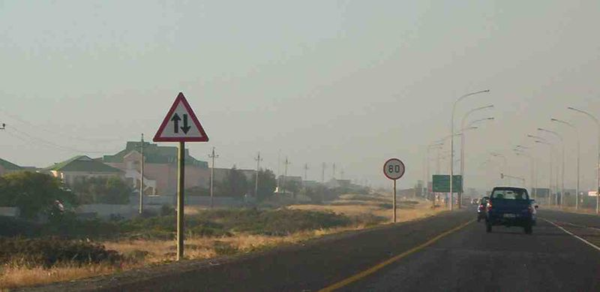 Speed limit here in suburban Cape Town was 80kph.