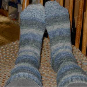 "Austermann Jojoba socks (my Spanish-speaking friend Anne reminded me we say, ""Hohoba."")"