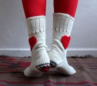 Heart socks 3