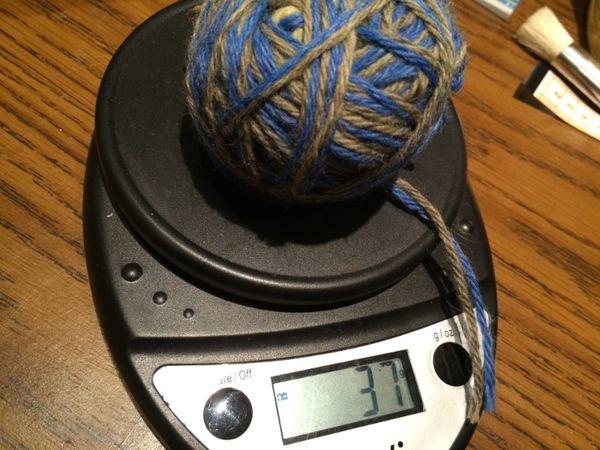 Swatch yarn weigh