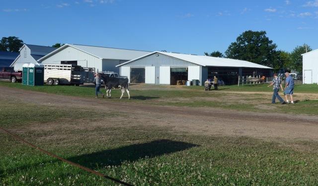 Livestock barns near the west gate.