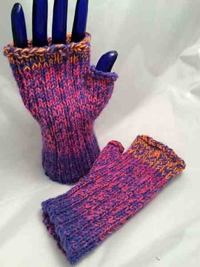 Mar fingerless purple pink