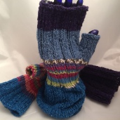 Fingerless gloves for library sale.