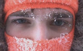 He was helpful: running the snowblower,