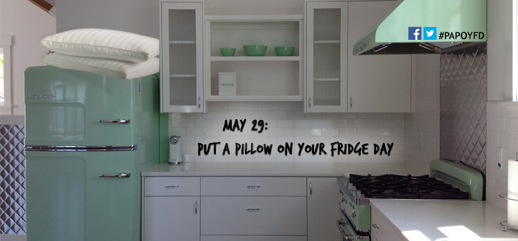 put that pillow on the fridge kmkat her kneedles