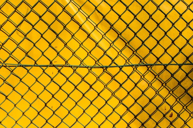 chain-link-fence-yellow