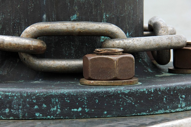 Chain and bolt:nut