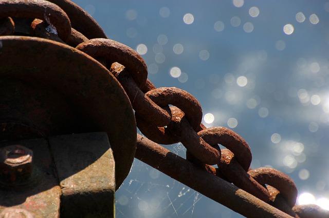 chain rusty w sparkles