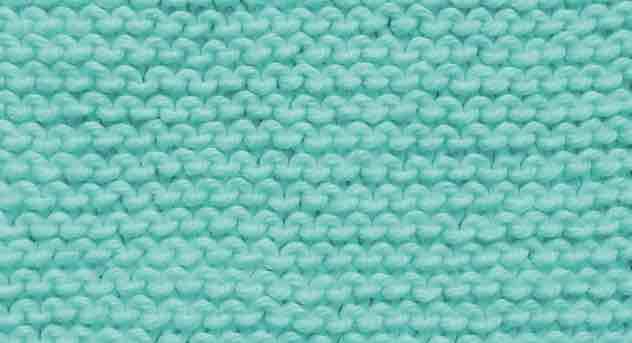 knit aqua garter