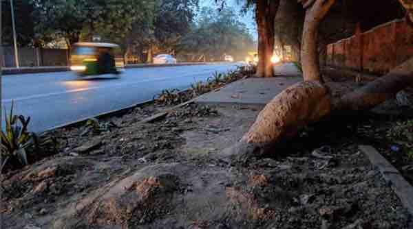 Delhi sidewalk