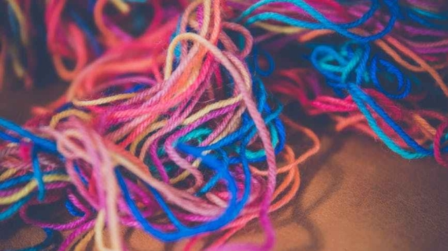 colorful knitwear wool knitting