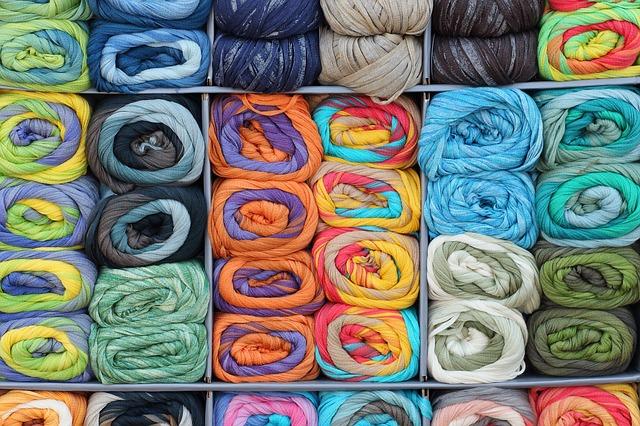 yarn in rack