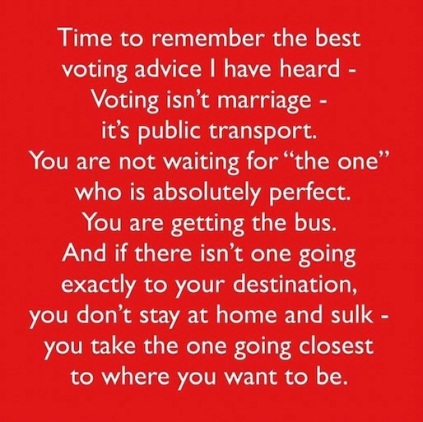 voting is the bus