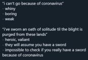 corona excuse