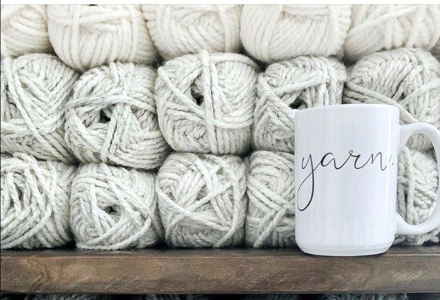 yarn coffee mug