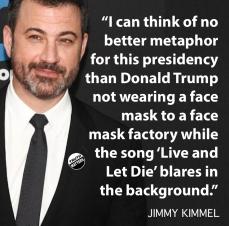 kimmel trump mask