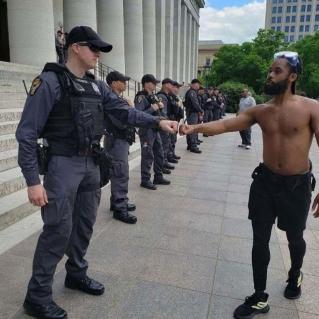 cop handshake