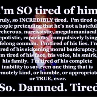 tired of trump