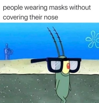 not cover nose