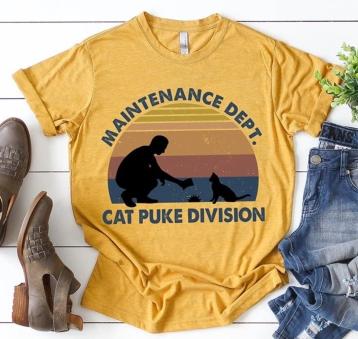 tshirt cat puke