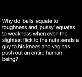 balls pussy