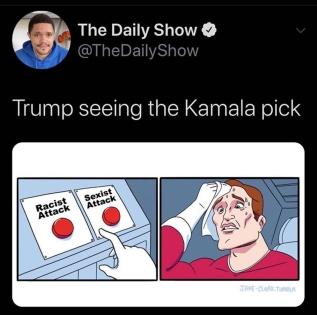 trump sees kmala