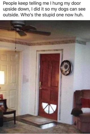 upside down door