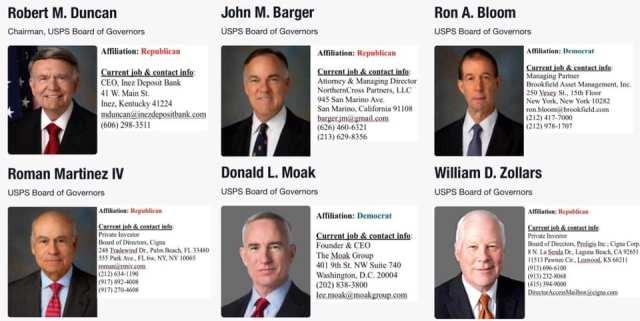 USPS board